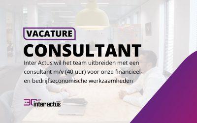 Vacature: consultant m/v (40 uur) voor onze financieel- en bedrijfseconomische werkzaamheden
